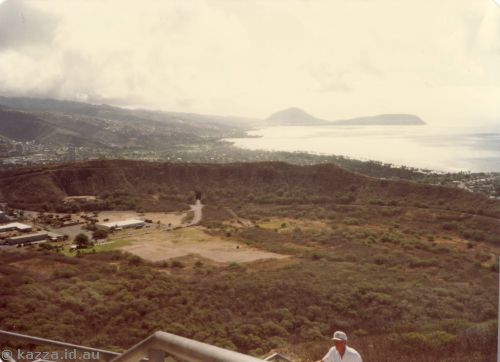 Diamond Head crater from top of Diamond Head, looking towards Koko Head