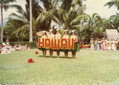 Hawaii sign at Kodak Hula show