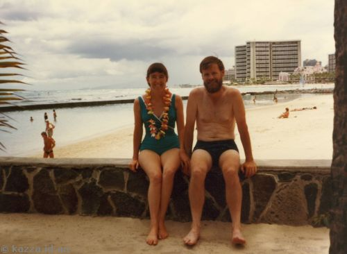 David took this photo of Mum and Dad at Waikiki